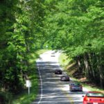 Shaded hilly roads