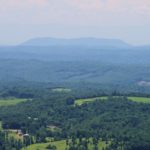 House Mountain, 28 miles away. You can just make out the Smokies in the background.