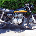 Off topic, but came across this gem in a parking lot heading home. old Honda 550 Four Supersport...Old School, baby.
