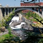 The iconic Spokane Bridge